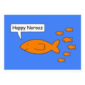 Happy Norooz Goldfish. Postcard