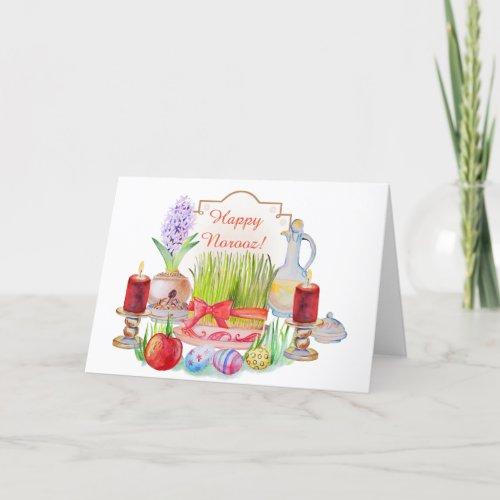 Happy Norooz Haft Sin Holiday Card