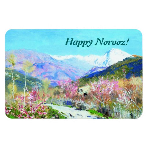 Happy Norooz. Persian New Year Gift Magnet