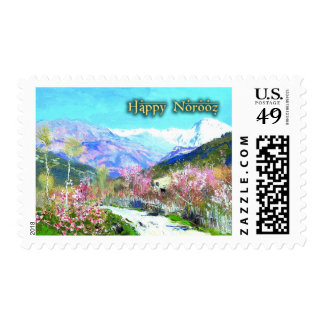 Happy Norooz. Persian New Year Postage Stamps
