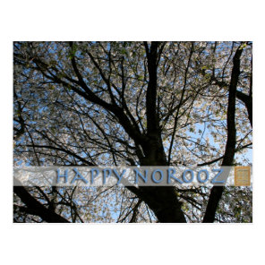 Happy Norooz with Cherry Tree Postcard