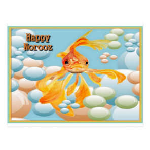 Happy Norooz With Goldfish is a cute paıntıng of a Postcard