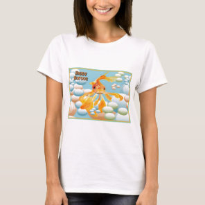 Happy Norooz With Goldfish is a cute paıntıng of a T-Shirt