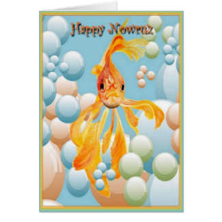 Happy Nowruz Goldfish Greeting Card