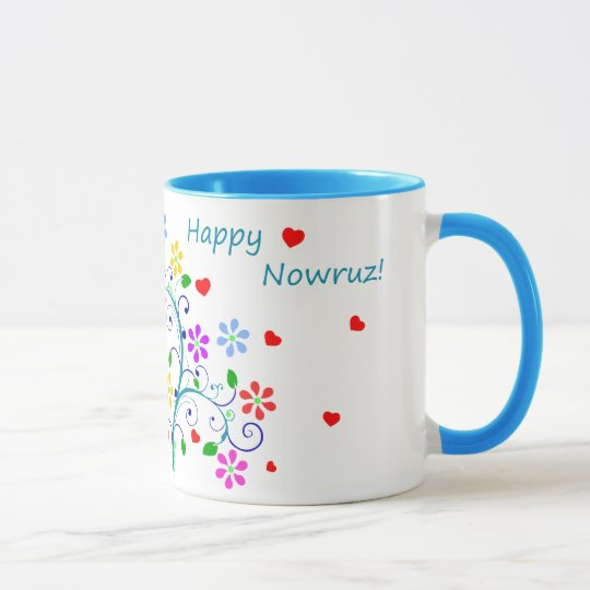 Happy Nowruz the Persian New Year, Bright Floral Mug