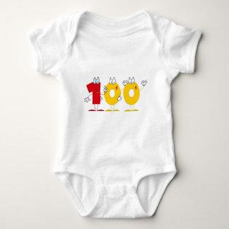 Happy Number 100 Baby Bodysuit
