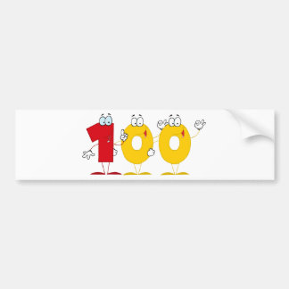Happy Number 100 Bumper Sticker