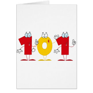 Happy Number 101 Greeting Card
