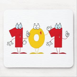 Happy Number 101 Mouse Pad