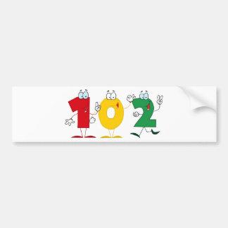 Happy Number 102 Bumper Sticker