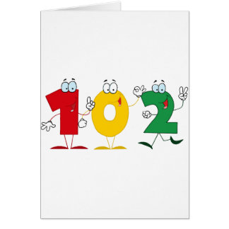 Happy Number 102 Card