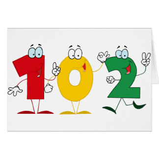 Happy Number 102 Greeting Card