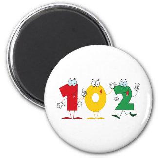 Happy Number 102 Magnet