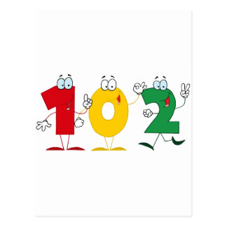 Happy Number 102 Postcard