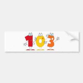 Happy Number 103 Bumper Sticker