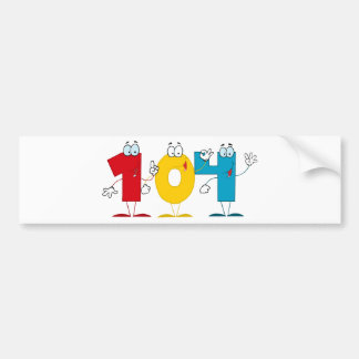 Happy Number 104 Bumper Sticker