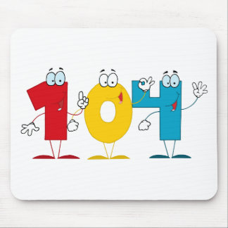 Happy Number 104 Mouse Pad