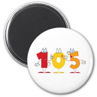Happy Number 105 2 Inch Round Magnet