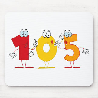 Happy Number 105 Mouse Pad