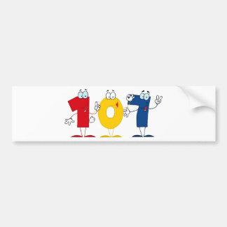 Happy Number 107 Bumper Sticker
