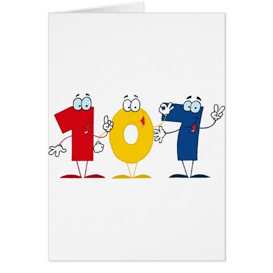 Happy Number 107 Card