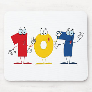 Happy Number 107 Mouse Pad