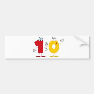 Happy Number 10 Bumper Sticker