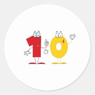 Happy Number 10 Classic Round Sticker