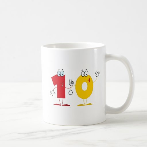 Happy Number 10 Coffee Mug