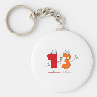 Happy Number 13 Key Chains