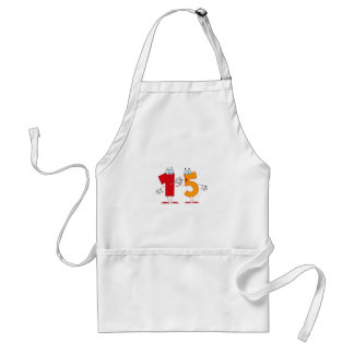 Happy Number 15 Adult Apron