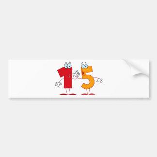 Happy Number 15 Bumper Sticker