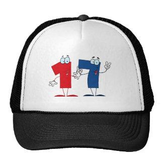 Happy Number 17 Mesh Hat
