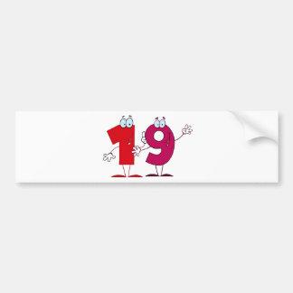 Happy Number 19 Bumper Sticker