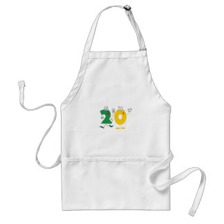 Happy Number 20 Adult Apron