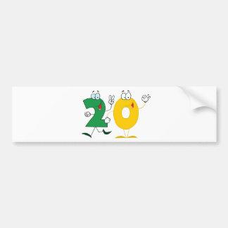 Happy Number 20 Bumper Sticker