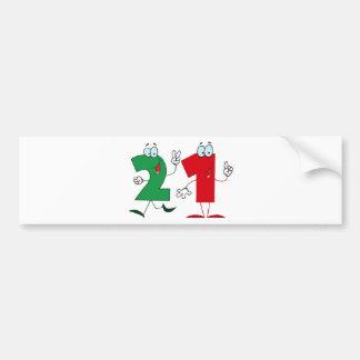 Happy Number 21 Bumper Sticker