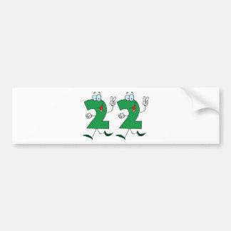 Happy Number 22 Bumper Sticker