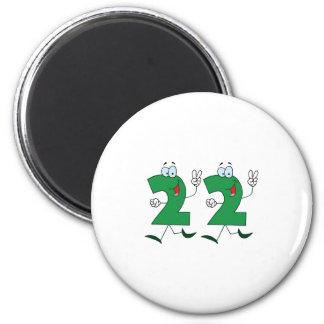 Happy Number 22 Magnet