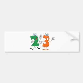 Happy Number 23 Bumper Sticker