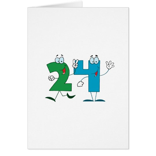 Happy Number 24 Card