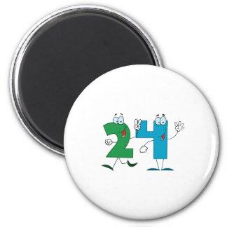 Happy Number 24 Magnet