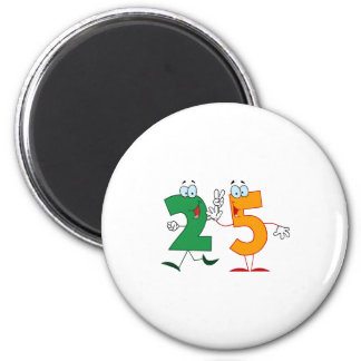 Happy Number 25 2 Inch Round Magnet