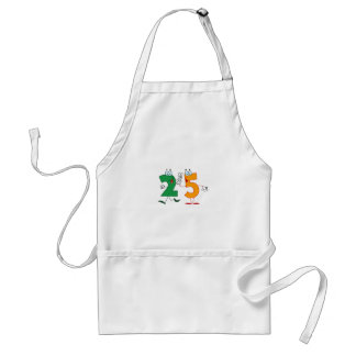 Happy Number 25 Adult Apron
