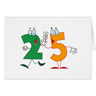 Happy Number 25 Card
