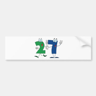 Happy Number 27 Bumper Sticker