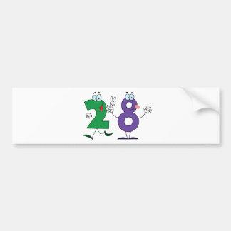 Happy Number 28 Bumper Sticker