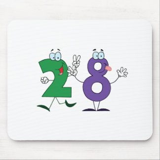 Happy Number 28 Mouse Pad
