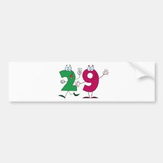 Happy Number 29 Bumper Sticker