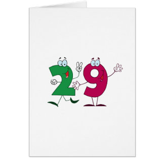 Happy Number 29 Card